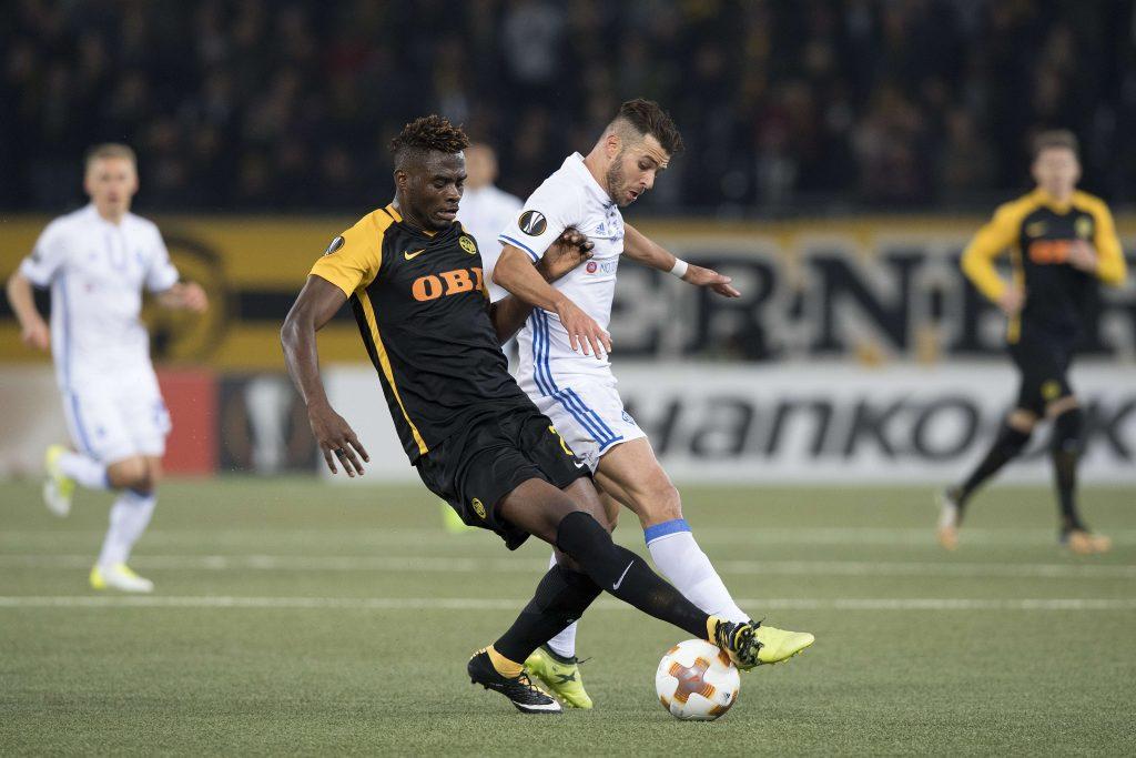 Kasim Nuhu, à gauche, au Stade de Suisse à Berne, en 2017.