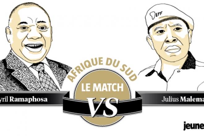 Le match de la semaine : Cyril Ramaphosa face à Julius Malema en Afrique du Sud