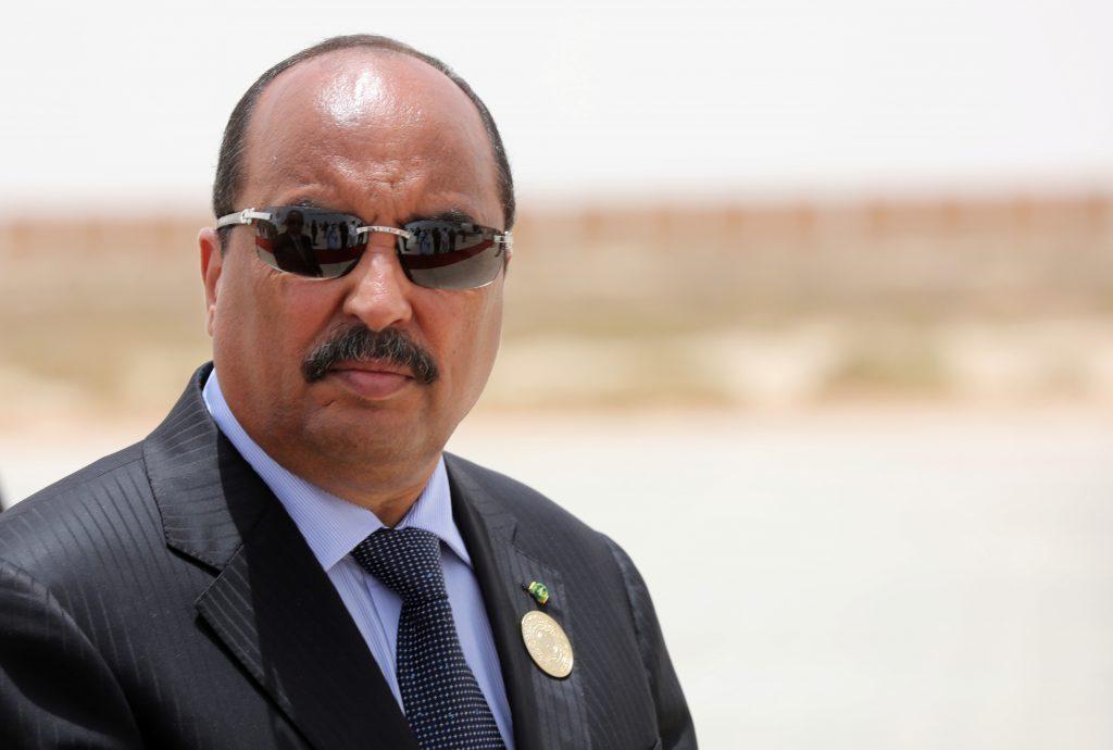 Le président mauritanien Mohamed Ould Abdelaziz à  Nouakchott le 2 juillet 2018.