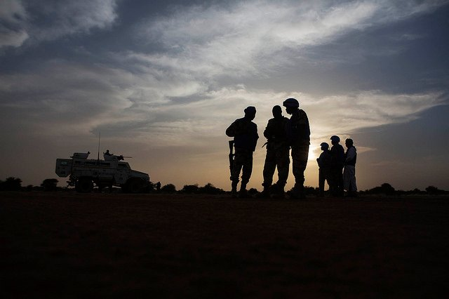 Patrouille de la Minusma dans la région de Kidal, en décembre 2016 (archives).
