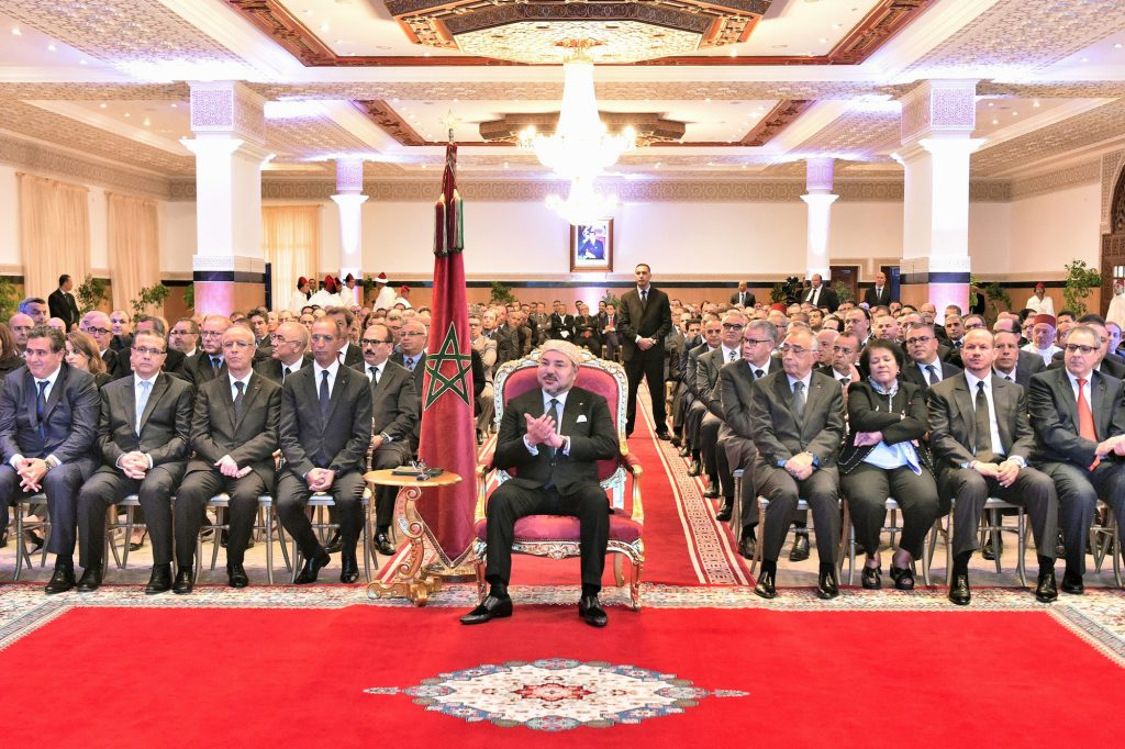 Mohammed VI lors du lancement du  programme «Al Hoceima, ville phare de la Méditerranée», à Tétouan, en octobre 2015.