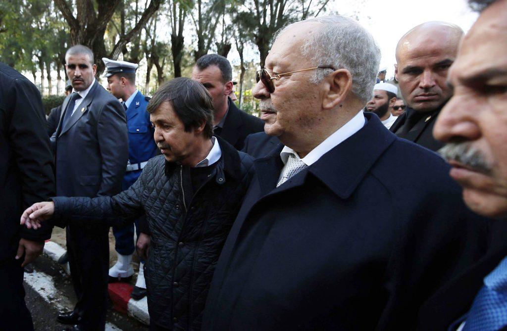 Saïd Bouteflika (à g.) et le chef d'état-major, Ahmed Gaïd Salah, le 10décembre 2018, à Alger.
