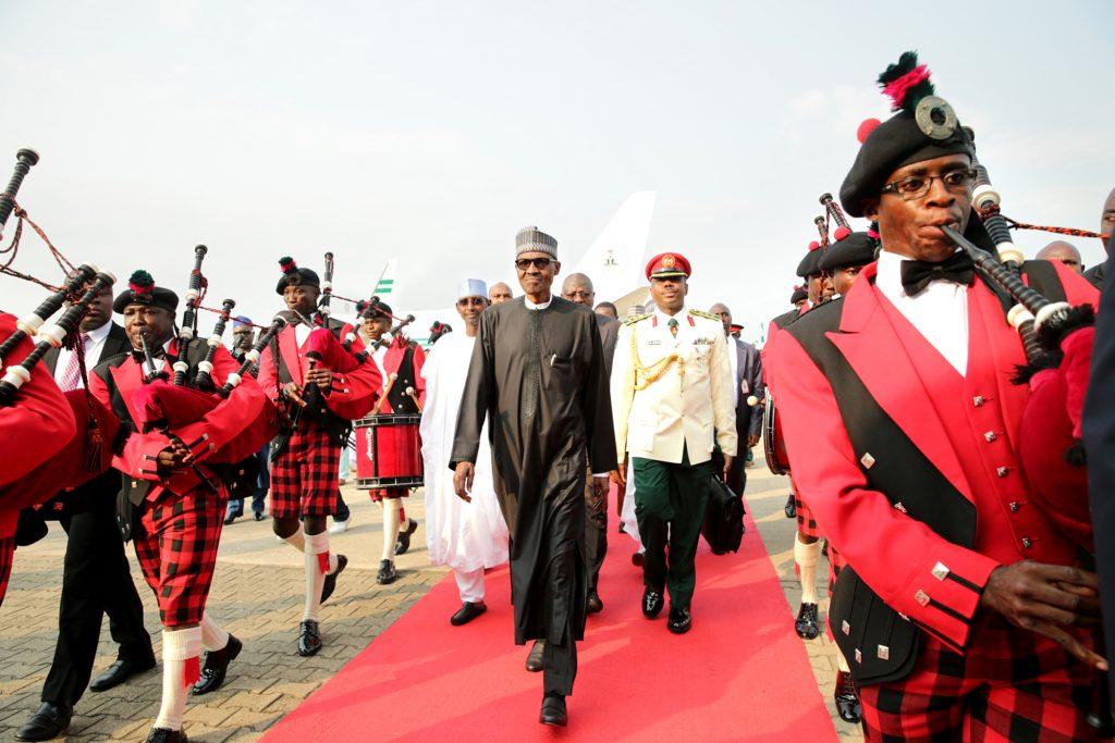 De retour à Abuja, le 19 août 2017.
