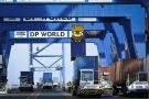 Le Doraleh Container Terminal (DCT), Terminal à conteneurs du port de Djibouti, géré par la société Dubaï Port World. Le 4 février 2013.