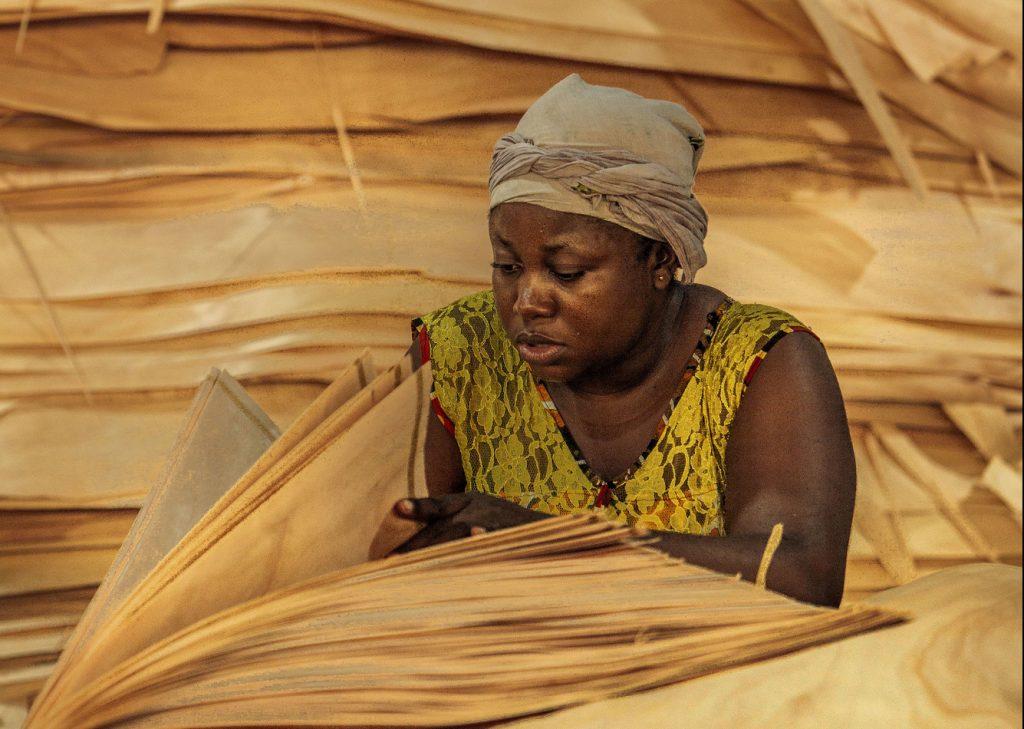 Guide investir Gabon 2018 -Zone économique spéciale de Nkok (GSEZ), Société Green Ply sa, insdustrie du bois déroulé. Libreville, Juillet 2018.Photo Jacques Torregano pour JA