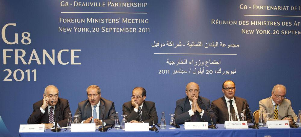 Lors du sommet du G8 à Deauville, en France en 2011.