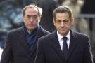 Nicolas Sarkozy, accompagné de Claude Guéant, en décembre 2011.