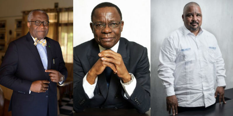 Akere Muna (à g.) et Maurice Kamto.