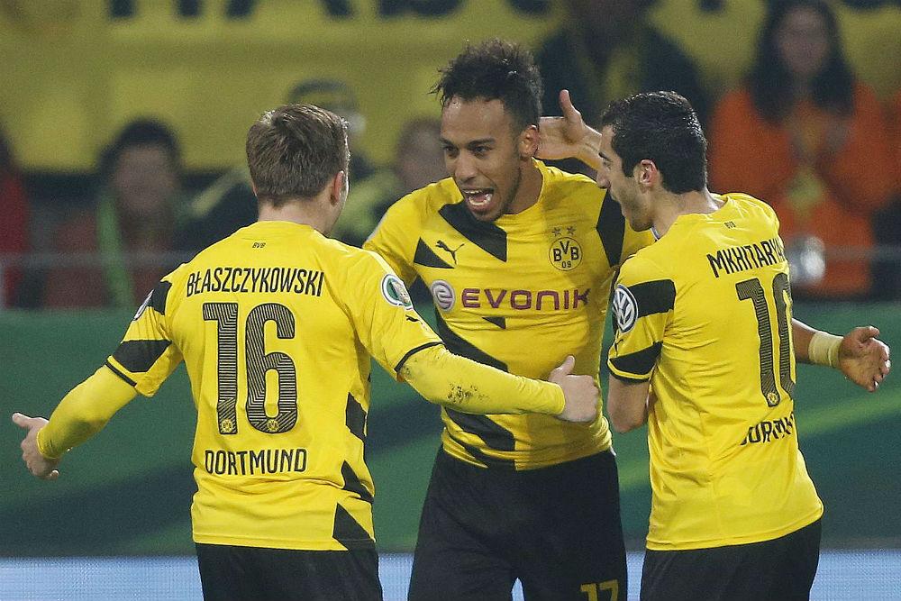 Pierre-Emerick Aubameyang, sous le maillot de Dortmund.