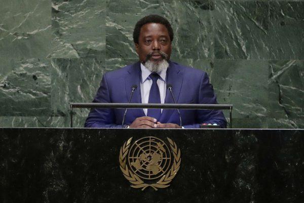 Le président congolais à la tribune des Nations unies le 25 septembre 2018.