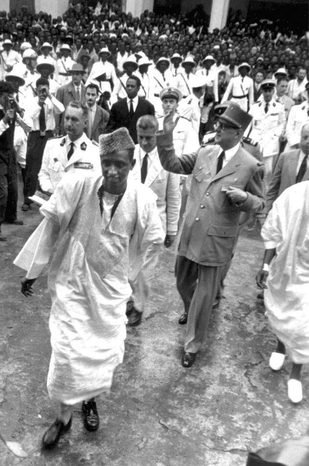 Le général de Gaulle à Conakry, le 25août 1958.