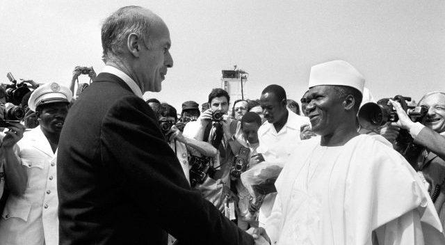 Sékou Touré et son homologue français, Valéry Giscard d'Estaing, le 21décembre 1978.