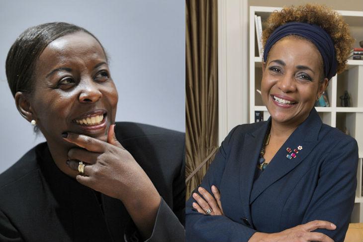 Louise Mushikiwabo (g) et Michaëlle Jean, les deux femmes en lice pour prendre la tête de l'OIF