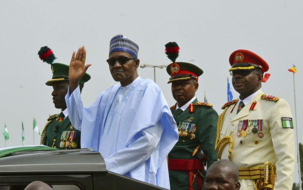 Le président Buhari lors des célébrations de l'indépendance nigériane, le 1er octobre 2018.