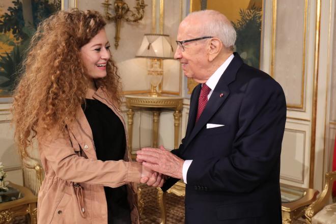 Tunisie : la très symbolique visite de la militante palestinienne Ahed Tamimi au Palais de Carthage