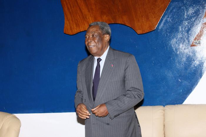 Marcel Niat Njifenji, le président du Sénat camerounais.