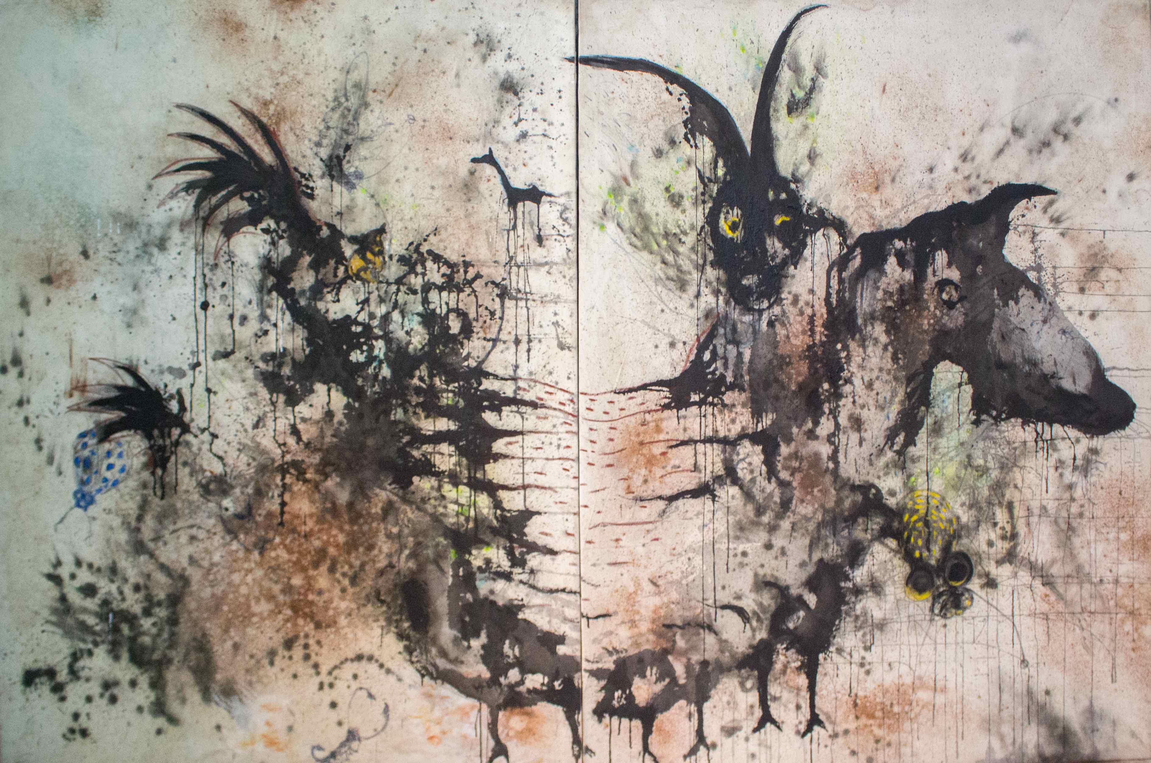Totem, de l'artiste sénégalais Aliou Diack (2018).