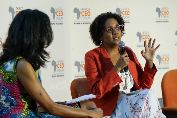 Michaëlle Jean, lors du CEO Forum, à Abdijan en mars 2018.