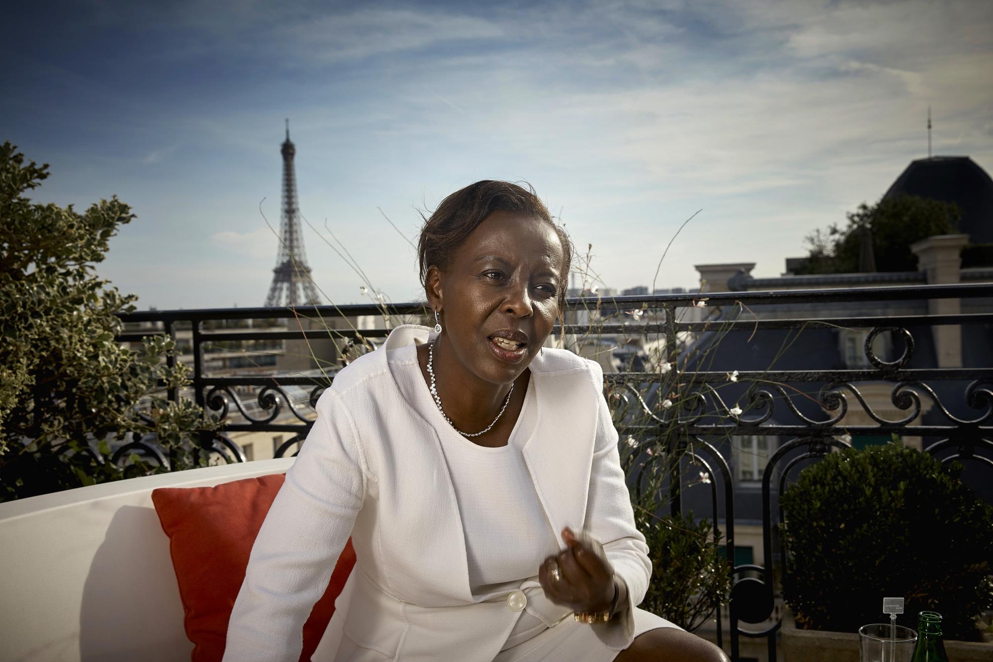 Louise Mushikiwabo, ministre des Affaires étrangères et porte-parole du gouvernement de Paul Kagame
