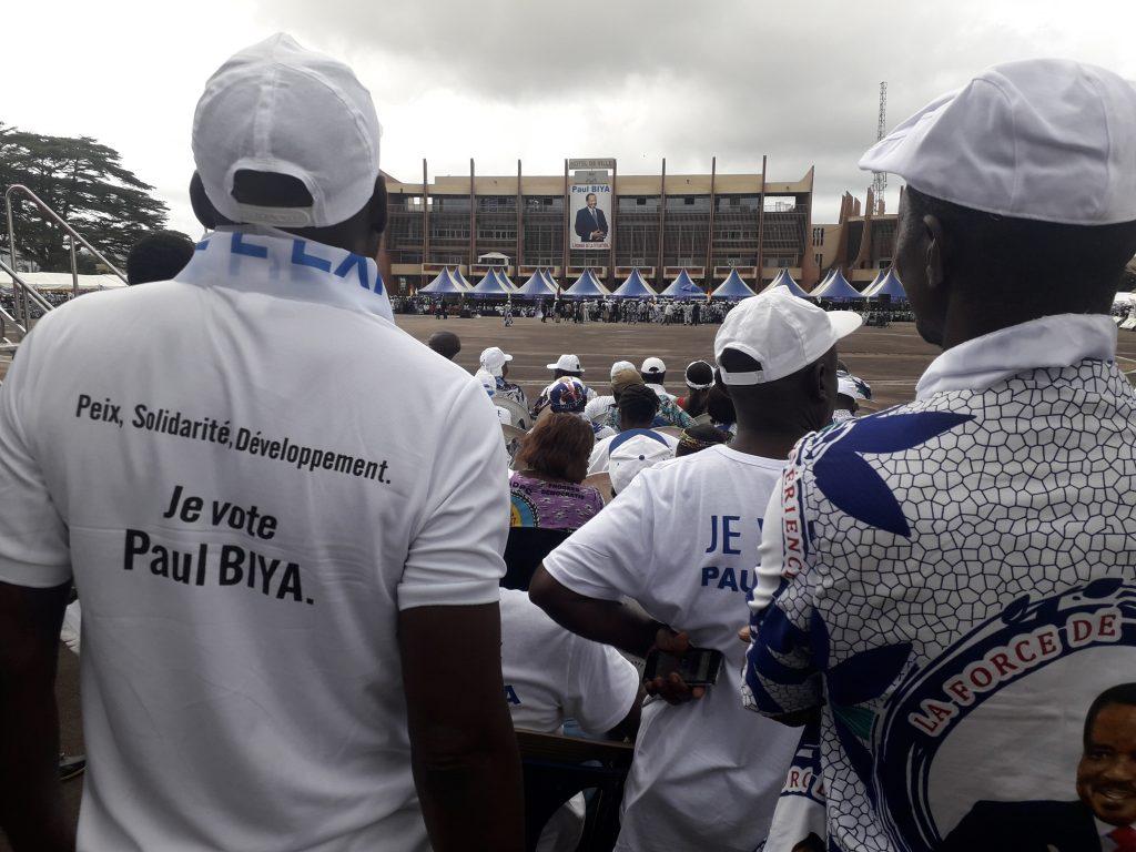 Meeting du RDPC, le 5 octobre à Yaoundé.
