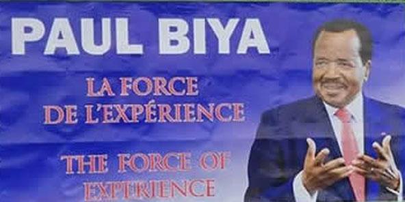 Affiche de campagne de Paul Biya.