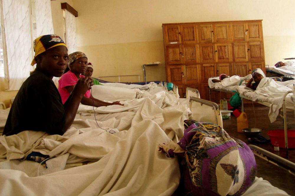Dans l'hôpital Panzi, à Bukavu, en 2005.