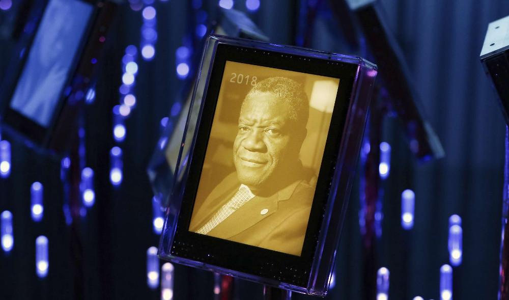 Le prix Nobel de la paix décerné le vendredi 5 octobre 2018 à Denis Mukwege, à Oslo.