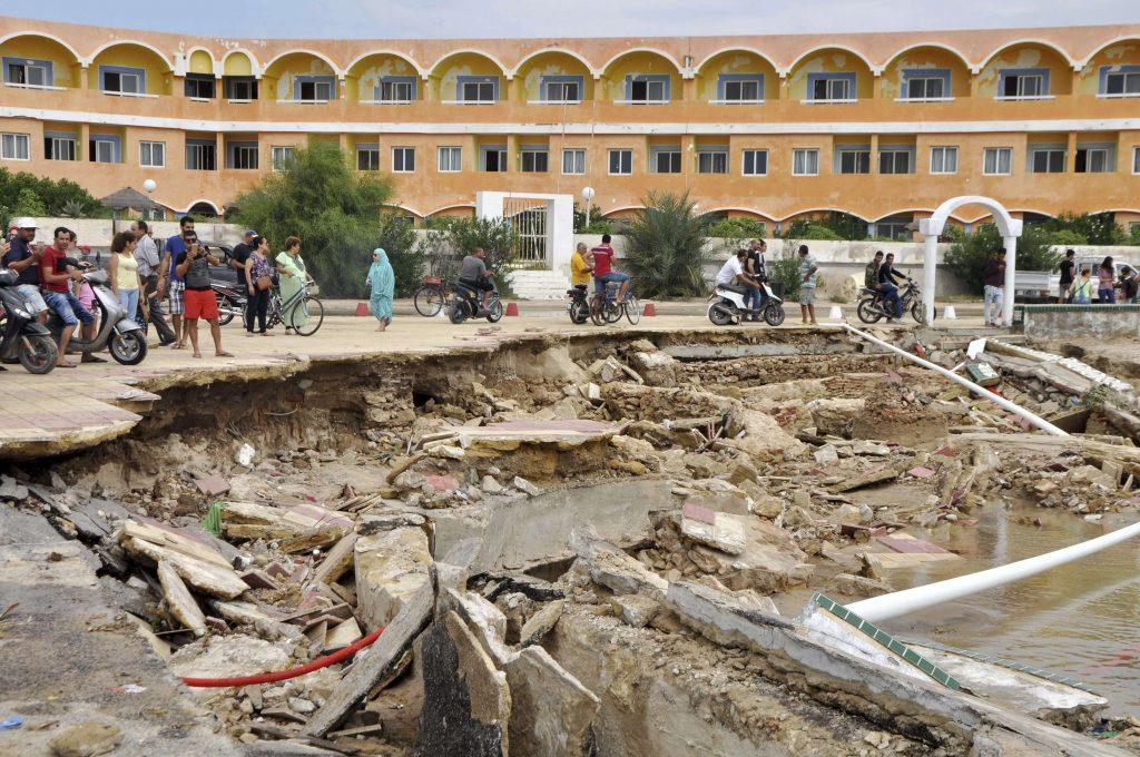 Dégâts suite aux inondations survenues les 22 et 23 septembre, dans le gouvernorat de Nabeul, au nord-est de la Tunisie.