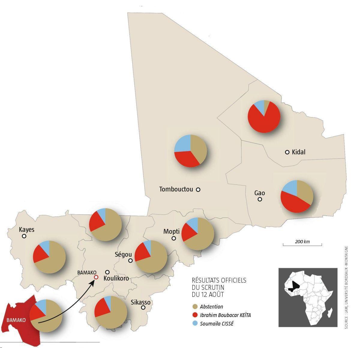 Résultats officiels du scrutin du 12 août 2018 au Mali