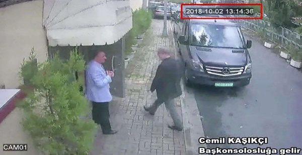 Le journaliste saoudien Jamal Khashoggi a été filmé entrain d'entrer dans le Consulat Saoudien à Istanbul le 2 octobre par les caméras de surveillance. La suite de l'histoire est pleine d'incertitudes.