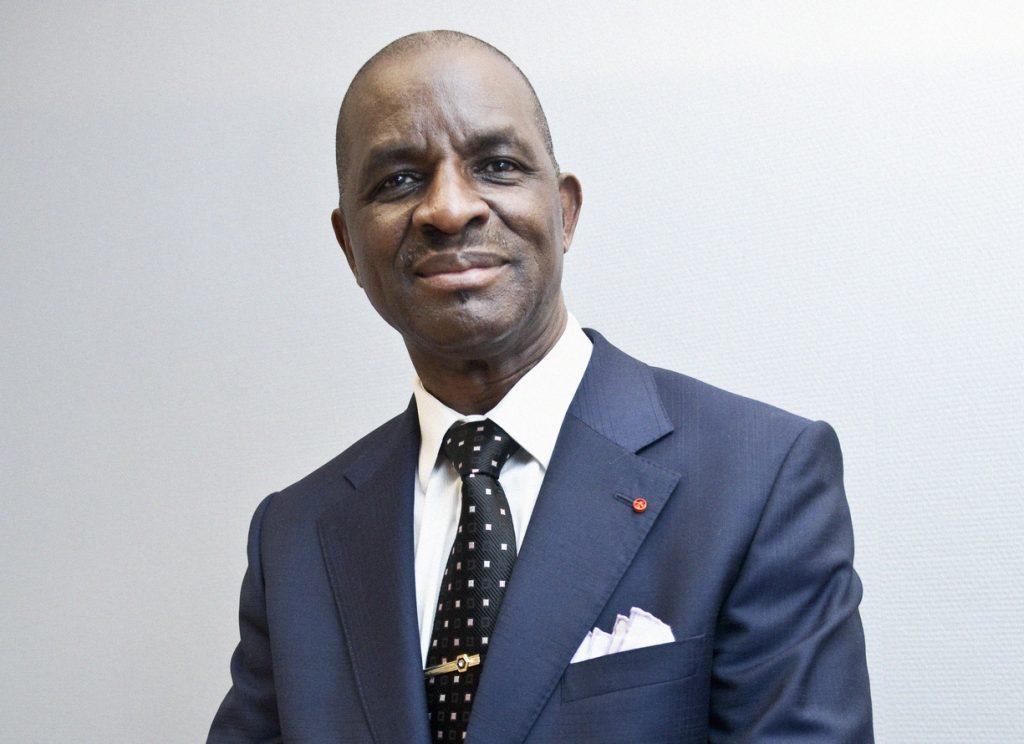 Jean Kacou Diagou (Côte d'Ivoire), Président de la Fédération des Organisations Patronales d'Afrique de l'Ouest (FOPAO), Président de la Confédération Générale des Entreprises de Côte d'Ivoire (CGEI) et Président Directeur Général du Groupe NSIA (Assurances et Banque BIAO-CI), lors d'une visite à Jeune Afrique (interview), le 7 mars 2011, à Paris, France.(© Vincent Fournier/JA