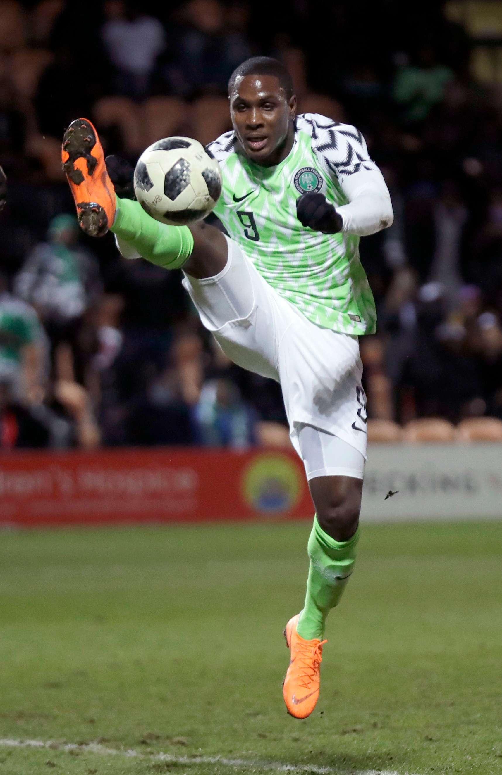 Le footballeur nigérian Odion Ighalo, ici en mars 2018.