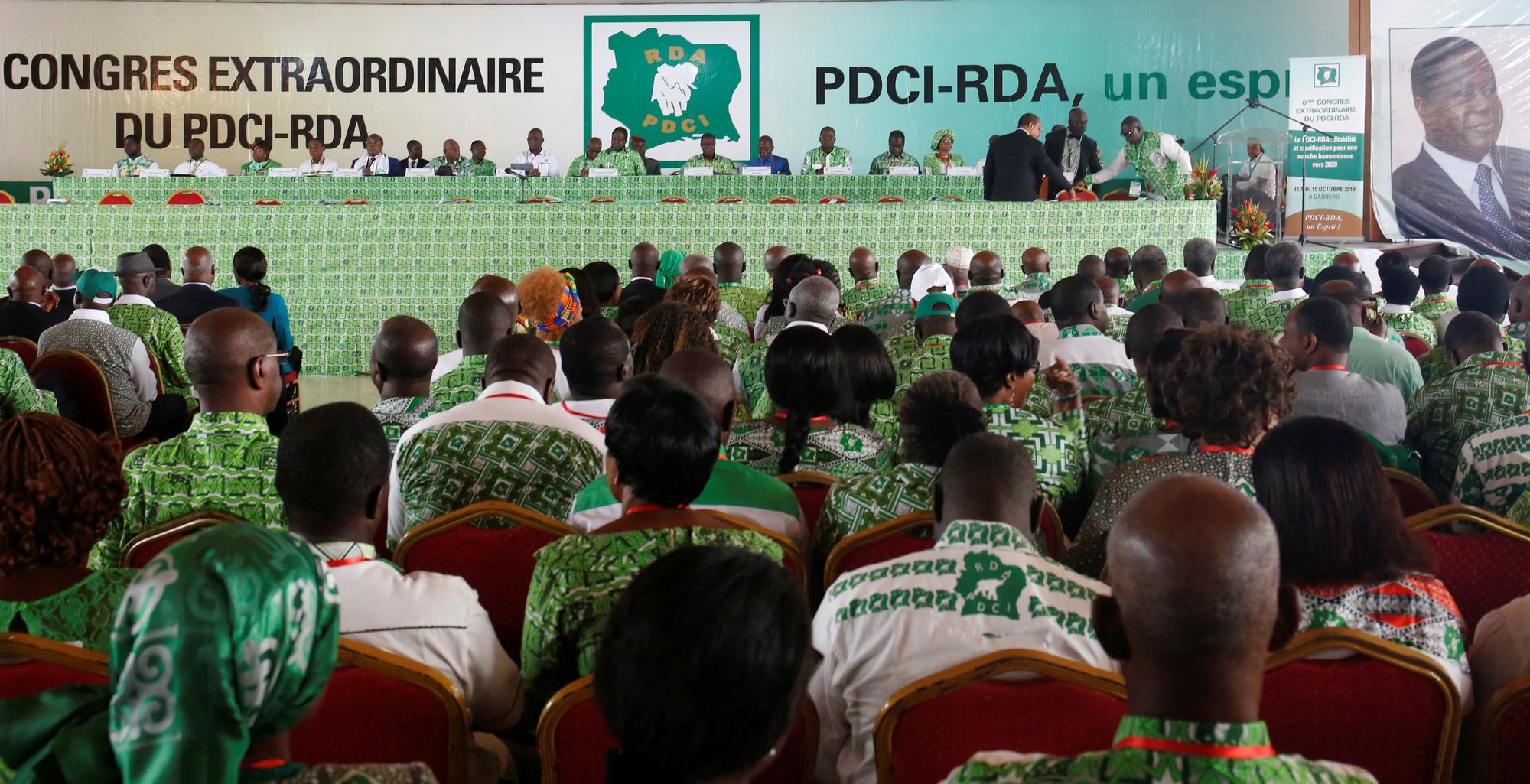 Henri Konan Bédié à Daoukro, le 15 octobre.
