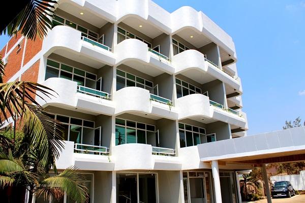 Le bâtiment d'Aims Kigali vue de l'arrière.