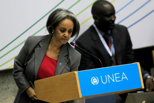 Sahle-Work Zewde, ici en 2014 à Nairobi, est la première femme élue présidente de l'Éthiopie.