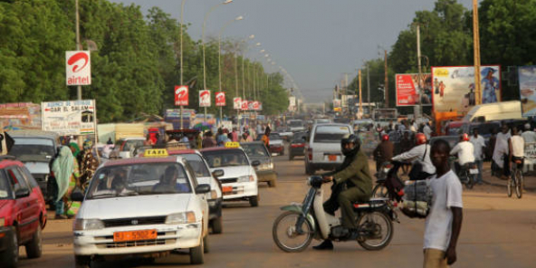 Une rue dans le centre de Niamey, en septembre 2011 (photo d'illustration).