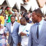 Le président Faure Gnassingbé visitant le chantier du nouveau marché moderne de la préfecture, à Baifilo, le 14juillet.