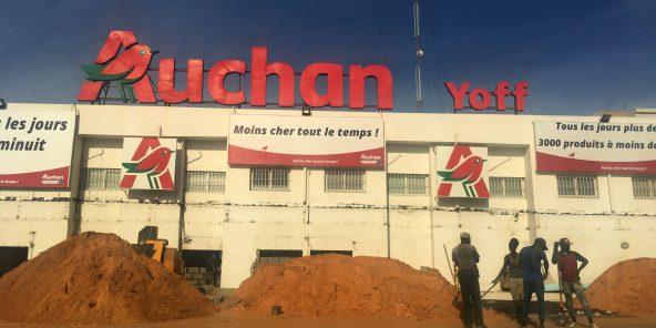 Un magasin Auchan à Yoff, une commune proche de Dakar.