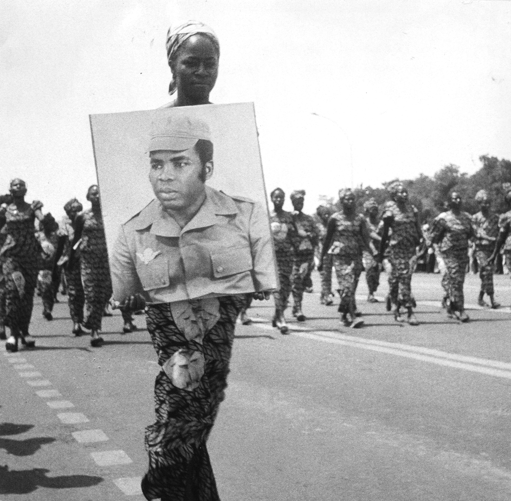 Marien Ngouabi, officier et homme d'État congolais, né le 31 décembre 1938 à Ombele, mort assassiné le 18 mars 1977 à Brazzaville. Il a été président de la République du Congo (puis de la République populaire du Congo) du 31 décembre 1968 à sa mort