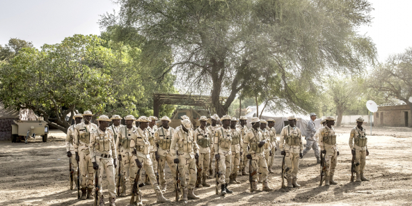 Soldats tchadiens formés au contre-terrorisme, à N'Djamena, le 15 mars 2017. Photo d'illustration.
