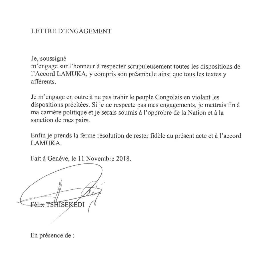 Rdc Tshisekedi Et Kamerhe S Etaient Engages A Arreter La Politique