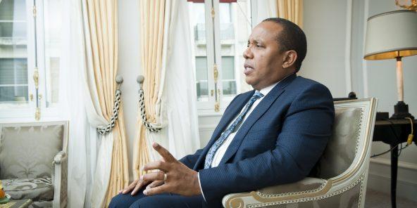 Patrice Trovoada (Sao Tome et Principe), Premier ministre. A Paris, le 07.11.2018. Photo : Vincent Fournier/JA