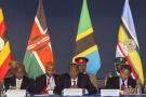 Les présidents des pays membres de l'East African Community, Yoweri Museveni, Uhuru Kenyatta, Jakaya Kikwete et Pierre Nkurunziza, lors du sommet États-Unis-Afrique d'août 2014.