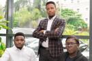 De g. à d., Joshua Chibueze, Somto Ifezue et Odunayo Eweniyi, cofondateurs de Piggybank.