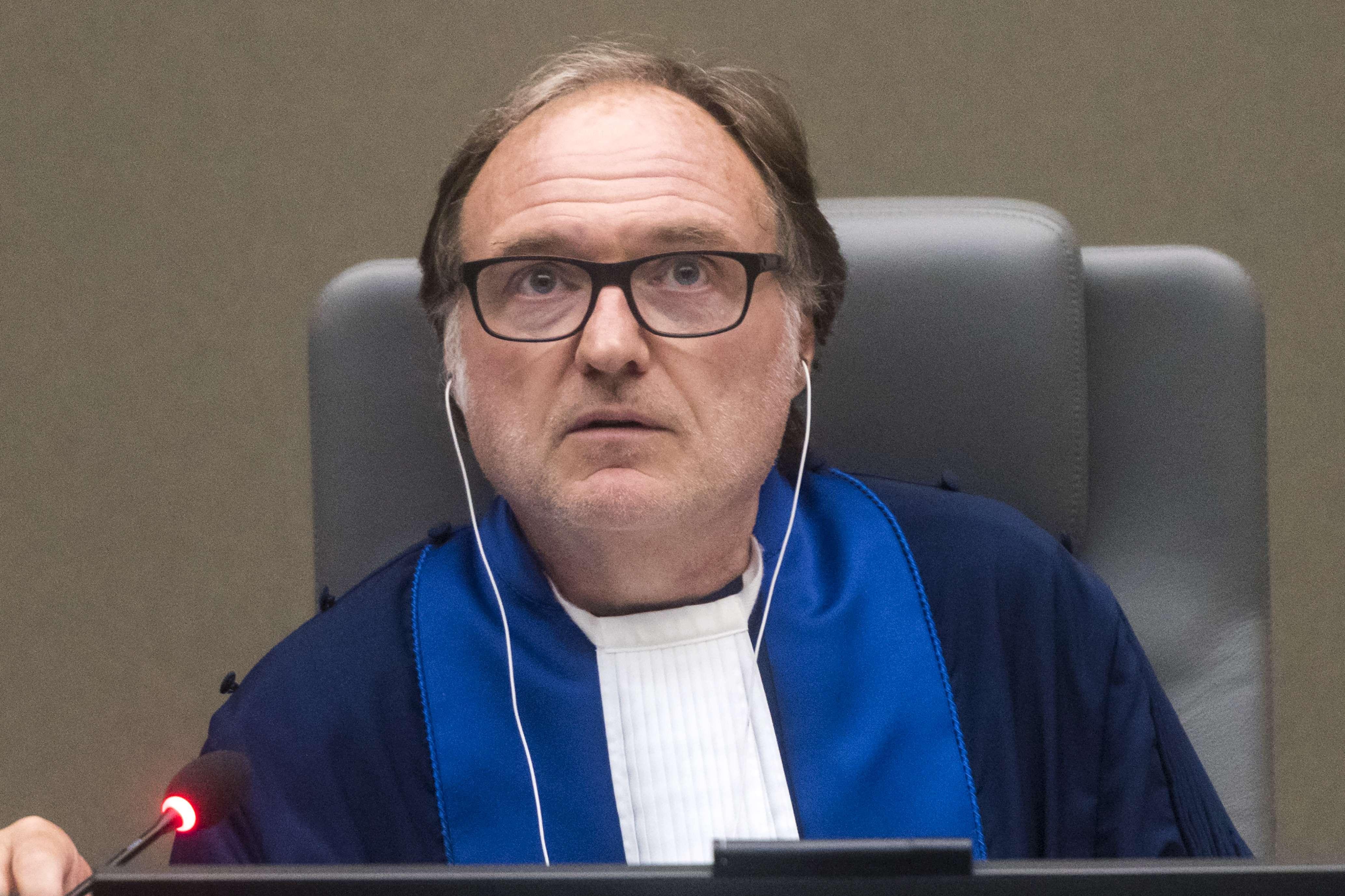 Le juge italien Cuno Tarfusser, lors d'une audience à la CPI le 6 novembre 2017.