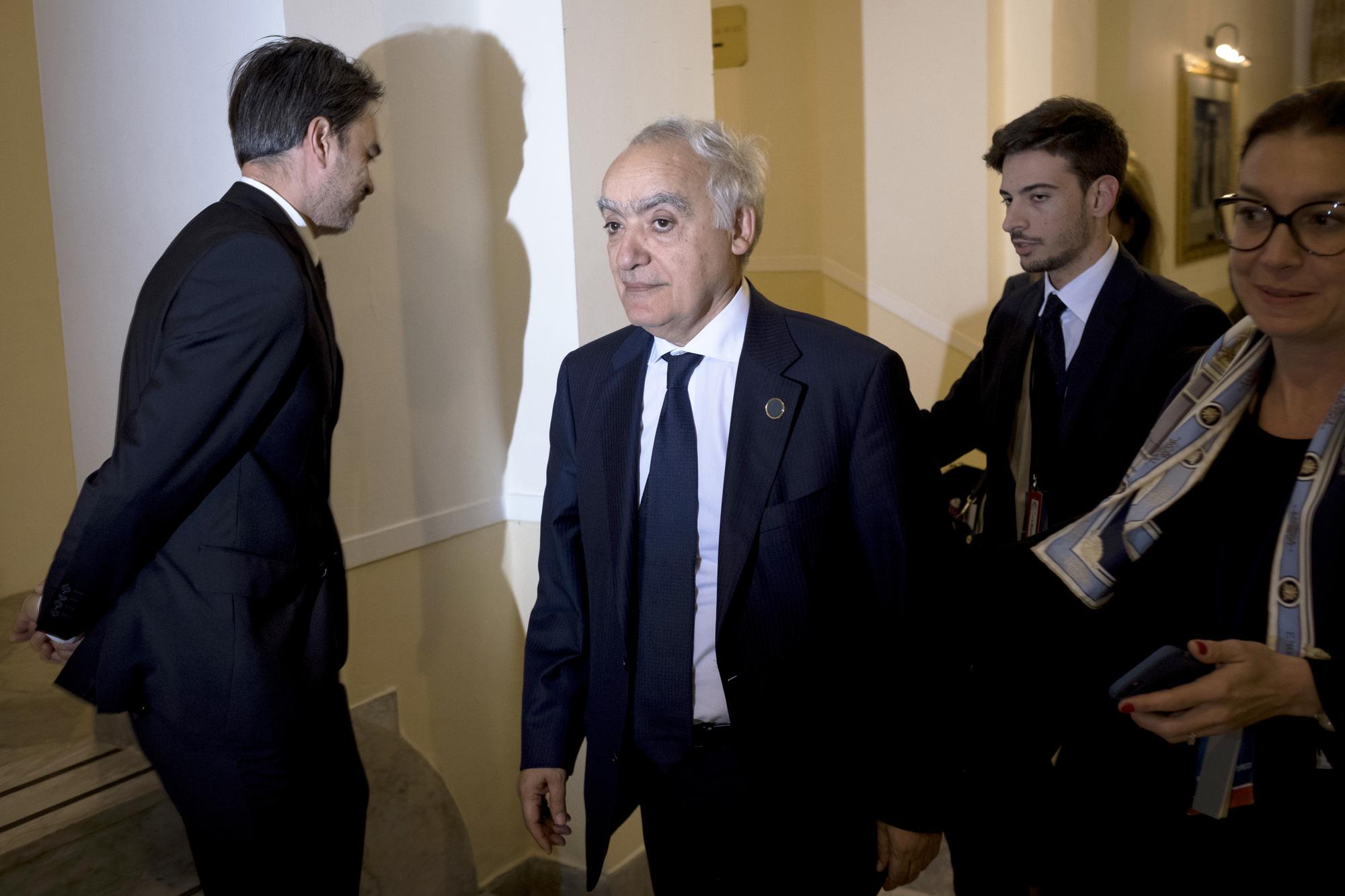 L'envoyé spécial de l'ONU pour la Libye Ghassan Salamé, le 13 novembre 2018 à Palerme (Italie).