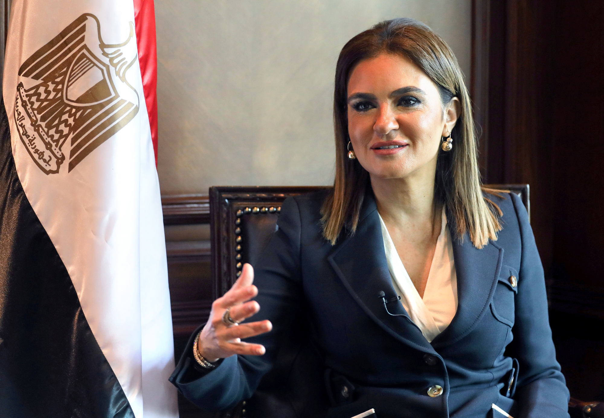 SAHAR NASR - Investment and International Cooperation Minister Sahar Nasr talks during an interview with Reuters in Cairo, Egypt June 21, 2017. REUTERS/Amr Abdallah Dalsh - RC16684D6B10....