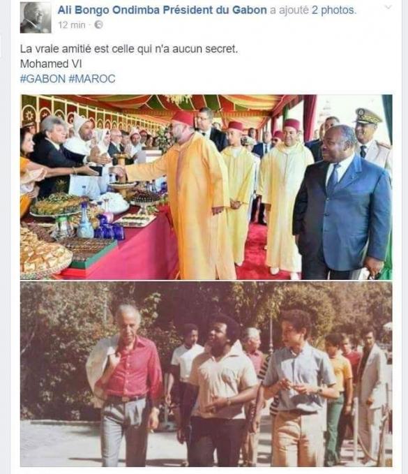 Photos d'Ali Bongo Ondimba et de Mohammed VI.