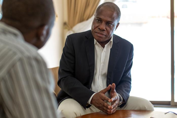 Martin Fayulu, en août 2016 à Kinshasa.