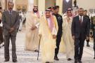 Le roi Salman avec le Premier ministre éthiopien, Abiy Ahmed (à dr.), et le président érythréen, Issayas Afeworki.